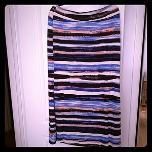 🎉LIKE NEW Karen Kane multicolored striped skirt